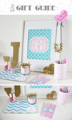 Gift Guide: ForChicSake.com Handmade Gifts | For Chic Sake make your own monogram!!!! Love it!