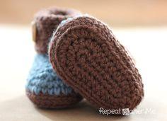 patrón Botitas para bebé en crochet