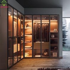 Lacquered wood and glass wardrobe MILANO By PIANCA Source by nicolasvkrenz room design Wardrobe Design Bedroom, Bedroom Wardrobe, Modern Wardrobe, Corner Wardrobe Closet, Modern Closet, Closet Rod, Classic Wardrobe, Closet Space, Shoe Closet