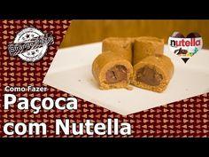 PAÇOCA RECHEADA COM NUTELLA (FEITA NA FORMA DE GELO!) | Cozinha do Bom Gosto | Gabi Rossi - YouTube