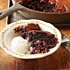 Caramel Pecan Skillet Brownie VERDICT = HOLY CRAP THIS IS GOOD!!!  I made without nuts and it tasted like a salted caramel brownie...WOW!!!!!