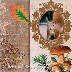 Papierservietten Autumn-Greetings Eichhörnchen günstig zum Bestellen