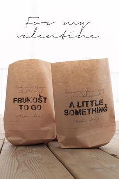 DIY paper bags.