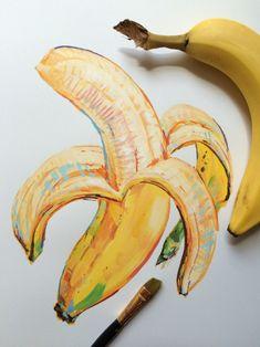 New - Art by noel badges pugh - Rndom stuff - Art Sketches, Art Drawings, Sketch Drawing, Sketching, Fruit Sketch, Gcse Art Sketchbook, Guache, Fruit Art, Painting & Drawing