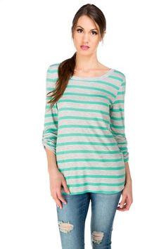 Stripe Ribbed Sweater