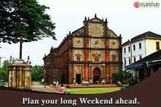 Pack your bags and head towards the land of #fun, #party and #rejuvenation GOA. Spend your long weekend at #Manthan #Yogic #Village and explore the beautiful #churches, #beach and #forts. http://www.myvgoa.com #Goa #WeekendPlan #Refreshment