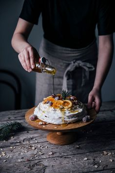Our Food Stories // christmas pavlova with sugared cranberries and orange