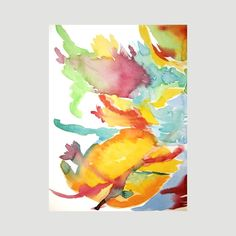 Original Abstract Art Watercolor Painting, Euphoria by Tina Carroll
