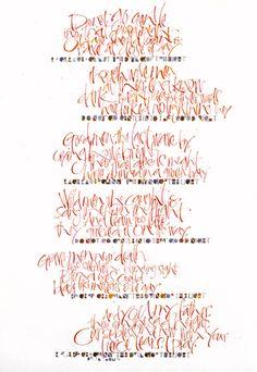 Rage - Dylan Thomas calligraphy by Kirsten Burke