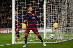Adriano of Barcelona celebrates scoring his teams sixth goal during the UEFA Champions League Group E match between FC Barcelona and AS Roma at Camp Nou on November 24, 2015 in Barcelona, Catalonia.