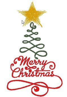 Free Embroidery Design: Merry Christmas