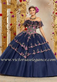 1000e42def5 Crystal Beaded Embroidery on Tulle Ball Gown Morilee 34004