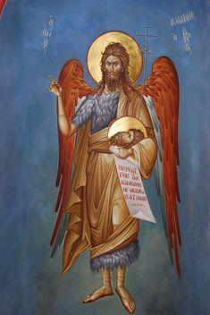 Byzantine Icons, Byzantine Art, John The Baptist, Orthodox Icons, Little Sisters, First Love, Saints, Santorini, Fictional Characters