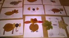 Ähnliches Foto Dry Leaf Art, Leaf Crafts, Land Art, Art Lessons, Kindergarten, Cool Designs, Arts And Crafts, Collage, Leaves