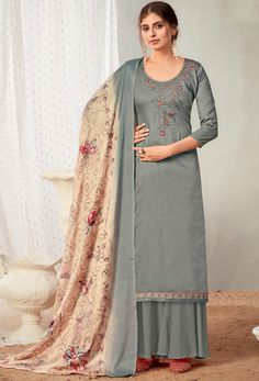#Cotton #fabric is the #best #fabric in any #weathers, cotton #salwar #kameez is the best choice for any #girls or #womens, #Nikvik is the #bestseller of cotton salwar #suits in #USA #AUSTRALIA #CANADA #UAE #UK Pakistani Salwar Kameez, Pakistani Suits, Sharara Suit, Indian Suits, Palazzo Suit, Palazzo Style, Back Neck Designs, Designer Salwar Suits, Traditional Dresses