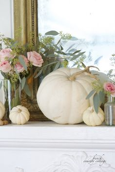 FRENCH COUNTRY COTTAGE: Romantic Autumn Mantel - ABSOLUTELY STUNNING, OUI!!
