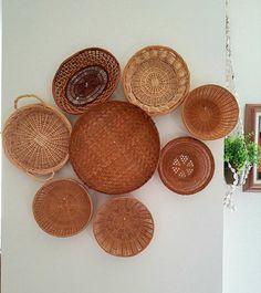 Vintage Woven Basket Set