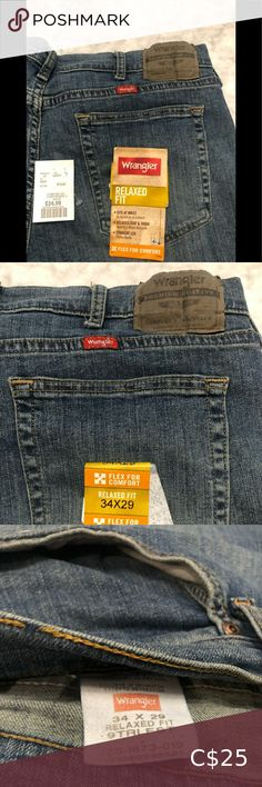 Wrangler Jeans for Men NWT Wrangler Jeans Relaxed Fit 34X29 Straight Leg Relaxed Seat and Thigh These were used for a model in a photo shoot Wrangler Jeans Wrangler Cowboy Cut, Wrangler Jeans, Slim Jeans, High Jeans, Blue Denim Jeans, Black Jeans, Navy Midi Dress, Light Denim, Vintage Jeans