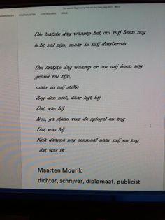Favoriet gedicht v. Maarten Mourik