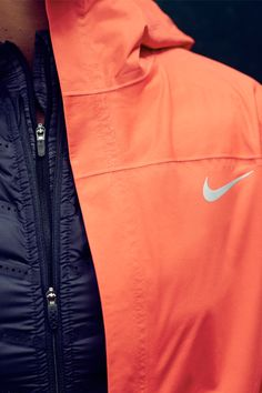 Dare to run in winter's gloom with layers built for warmth and protection – the Nike Shieldrunner Jacket, Nike Aeroloft 800 Vest and Nike Element Sphere Half-Zip.