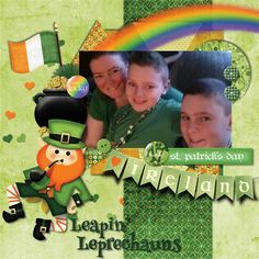 Layout using {Luck of the Irish} Digital Scrapbook Kit by Scrapping Lu available at MyMemories http://www.mymemories.com/store/display_product_page?id=SCLU-CP-1503-83811