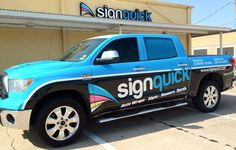 Vehicle Wrap Signquick Tundra Truck Seabrook Texas.  Designed, printed and installed by Signquick.