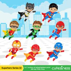 African American Superhero Clipart African American by Cutesiness