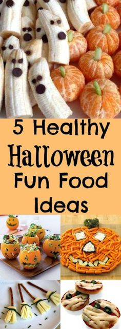 5 super healthy Halloween ideas. Easy to make recipes for kids and adults to enjoy.