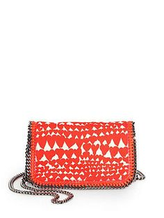 Stella's subtle heart print adds a fun touch to the perfect spring clutch.