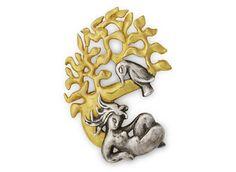 * POMONE brooch c 1945 gilt and silvered bronze - Line VAUTRIN