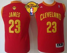 d8cfefeb6 Revolution 30 Cavaliers  23 LeBron James Red The Finals Patch Stitched  Youth NBA Jersey Cheap