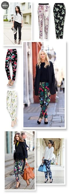how to wear print pants.