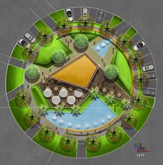 Urban landscape features as modern landscape design ideas pictures of every urban r . Urban landscape features as modern landscaping ideas Images of every city R …, Plans Architecture, Landscape Architecture Drawing, Landscape Design Plans, Concept Architecture, Garden Architecture, Park Landscape, Urban Landscape, Design Plaza, Parking Design