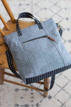 Bag Patterns To Sew, Pdf Sewing Patterns, Denim Bag Patterns, Easy Tote Bag Pattern Free, Free Sewing, Wallet Pattern, Free Pattern, Crossbody Tote, Clutch Bag