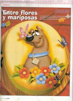 МК лепка Cкуби-Ду -gumpaste (fondant) Scooby-Doo tutorial - Мастер-классы по украшению тортов Cake Decorating Tutorials (How To's) Tortas Paso a Paso