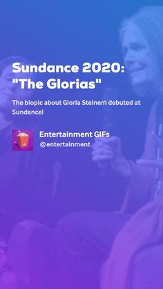 The biopic about Gloria Steinem debuted at Sundance! Gloria Steinem, Movie Gifs, Entertaining, Movies, Films, Cinema, Movie, Film, Movie Quotes