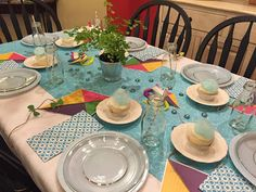 Spring Kite Party Tablescape