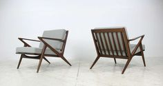 """Poul Jensen Pair of """"Z"""" Chairs for Selig image 3"""