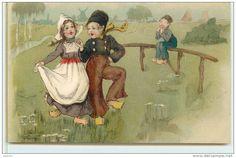 ENFANTS HOLLANDAIS  -  Couple Dansant.