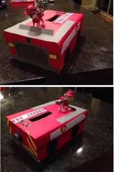 Paw patrol  Valentines box - Marshall