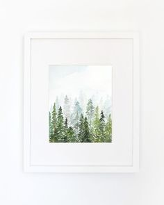 This is an archival inkjet print of the original watercolor. Inspired by a previous trip to the Adirondack mountains, Yao wanted to create a