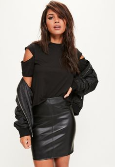 Faux Leather Mini Skirt Black - Skirts - Mini Skirts - Missguided