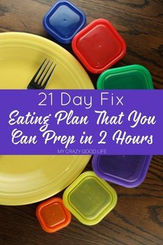 The 21 Day Fix Eating Plan isn't hard! Check out our tips for a week of meal prep in 2 hours! Here's how to make better choices with faster prep.