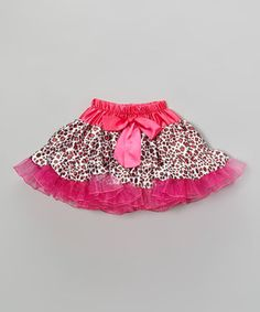 Look at this #zulilyfind! Fuchsia Leopard Silky Pettiskirt - Infant, Toddler & Girls by Inspiration Group #zulilyfinds
