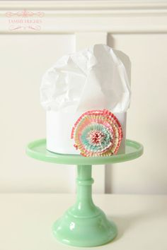 baker's hat with paper rosette - Baking Party  http://happywishcompany.com/