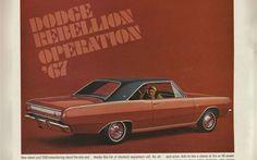 1967 Dodge Dart Gt Vintage Ad Crop
