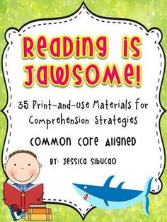 Reading Comprehension - 51 pages - Use this pack help your students master the Common Core standards. You may use this to any book/ text. 35 reproducible pages that could be used by students to organize their thoughts about what they read. This various comprehension strategies includes predicting, story elements, making connections, character study, retelling, summarizing, and elements of fiction and non-fiction text.