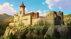 Fantasy City, Fantasy Castle, Fantasy Places, Fantasy Rpg, Medieval Fantasy, Fantasy Artwork, Game Of Thrones Castles, Medieval Drawings, Castle Illustration
