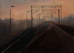 "Saatchi Art Artist Marta Zamarska; Painting, ""A Railway Impression IV"" #art"