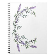 Lavender and Eucalyptus Notebook - retro gifts style cyo diy special idea Lilac Tattoo, Purple Tattoos, Lavender Tattoo, Flower Vine Tattoos, Flower Bouquet Tattoo, Tattoo Flowers, Hip Tattoos Women, Tattoos For Women Small, Small Tattoos